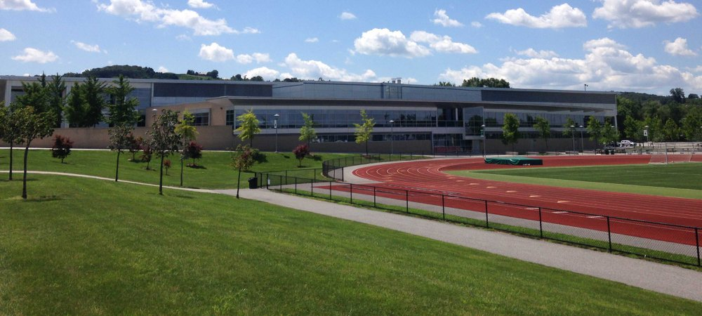 Grumbacher Sport and Fitness Center at York College in the summer