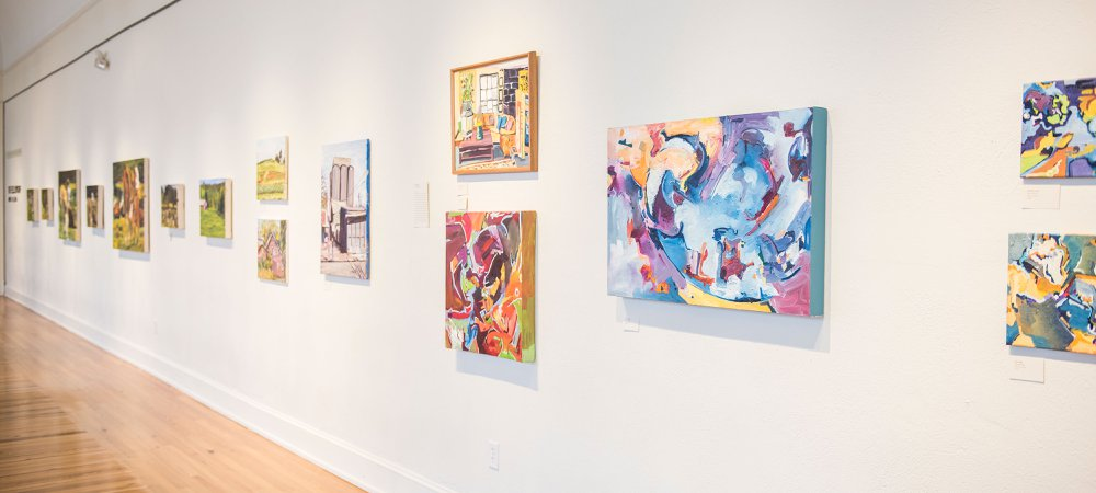 Art Exhibit in Gallery Hall, located in Marketview Arts