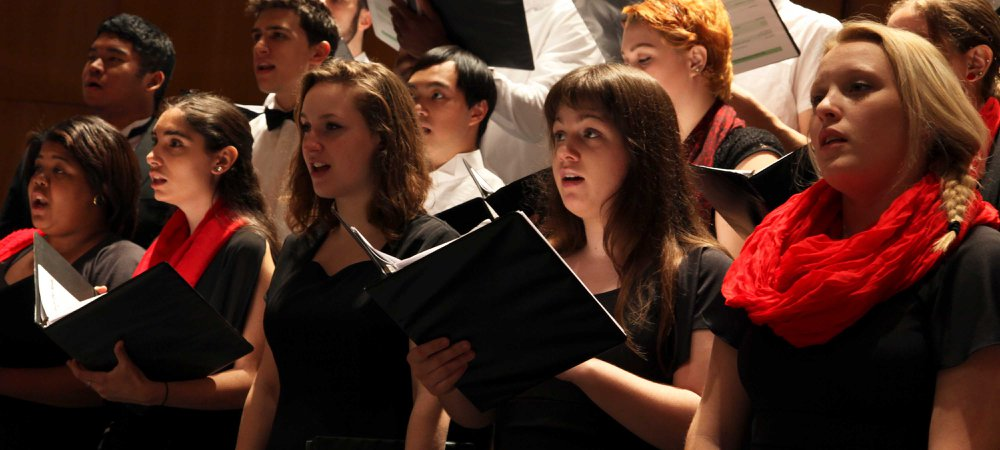 One of York College's several choral ensembles