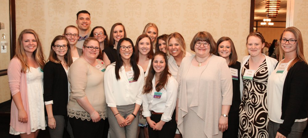 Eta Eta nursing honor society at York College presents at an annual research conference