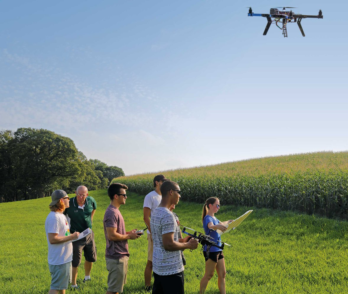 Senior engineering students develop cutting-edge drone to assist local farmers.