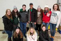 Bailey Coach and York College students filling up buses for veterans and their families