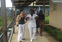 Megan Chaney recently travelled to Liberia with the Graham Innovation Scholars.