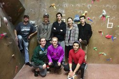 Indoor Rock Climbing Team at a competition