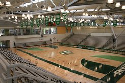 The Charles Wolf Gymnasium is home to basketball, volleyball,  wrestling, and events including orientations & graduation functions