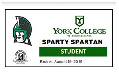 York College flex card, an ID card for student used for identification and for making purchases.
