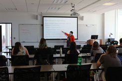 A workshop session during the Naylor Writing Conference.