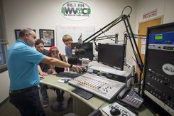 A tour of WVYC radio station at York College