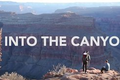 Grand Canyon with Into the Canyon text