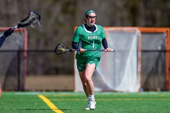 Women's lacrosse player Regan Cook takes the field for YCP