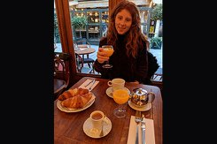 A photo taken while Gina Santilli was traveling in France.