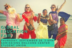 The Global Education Fair promotional image for event.
