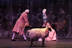 Marie Antoinette by David Adjmi featuring Craig Babineaux '19 as King Joseph and Kyle Tacopina '19 as Marie Antoinette