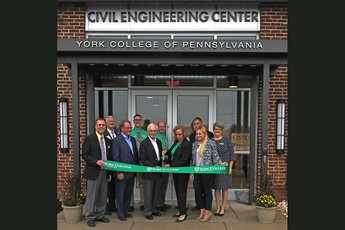 Civil Engineering Center ribbon cutting ceremony