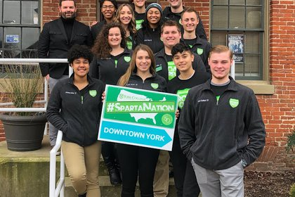 SpartaNation tour stops at the York County Convention and Visitors Bureau
