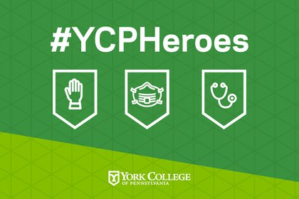 Graphic for YCP Heroes stories during COVID-19