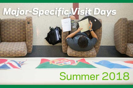Explore academic majors this year at York College with major-specific visit days.