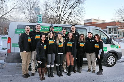 Road Crew Students with the Tour Van on day one