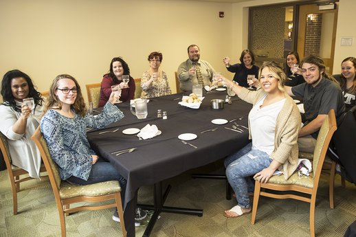York College students earn certified validation worker status for working with adults with dementia.