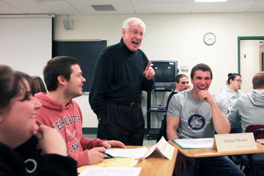 Prof. Monteith leads an Education class at York College