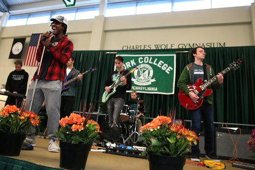 YCP Rock Band at the York College Open House November 2016
