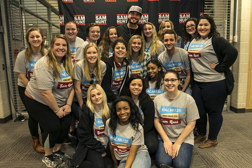 Campus Activities Board hang out with Sam Hunt at York College