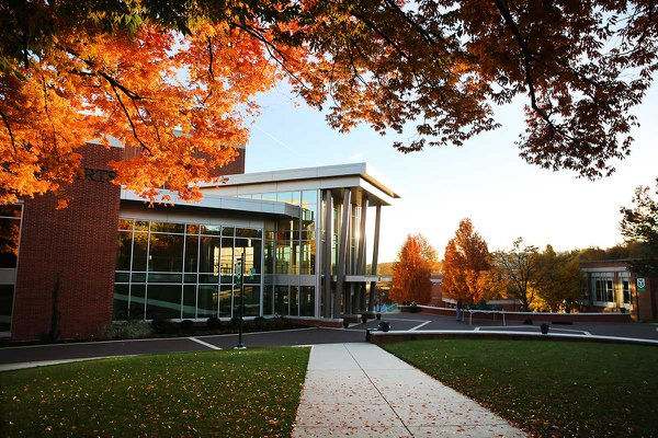 York College Waldner Performing Arts Center in the fall