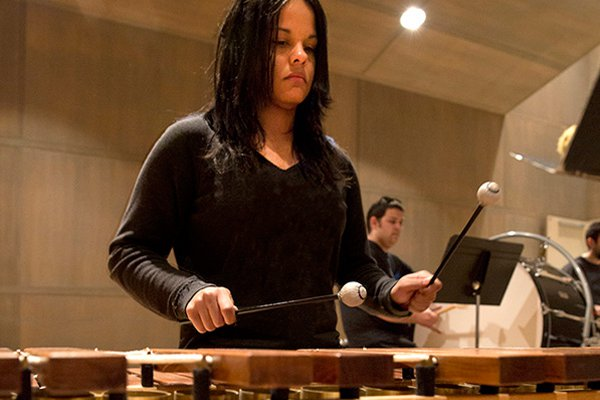 Percussion-based performance group at York College