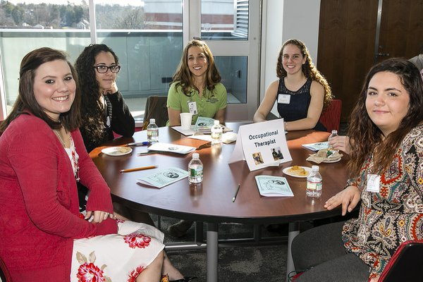 York College Occupational Therapy students meet with Wellspan