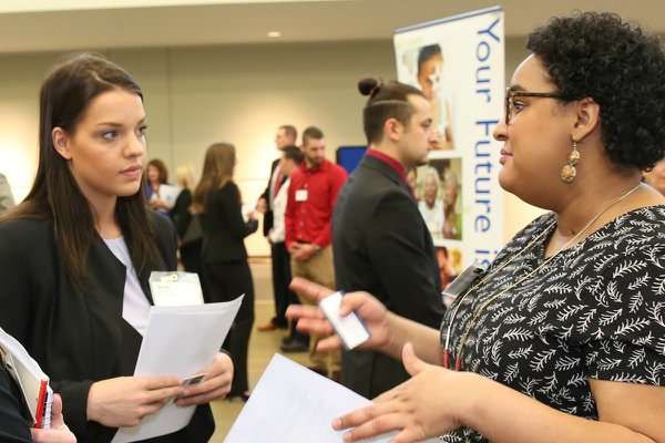 Campus Career Fair hosted by Career Development.