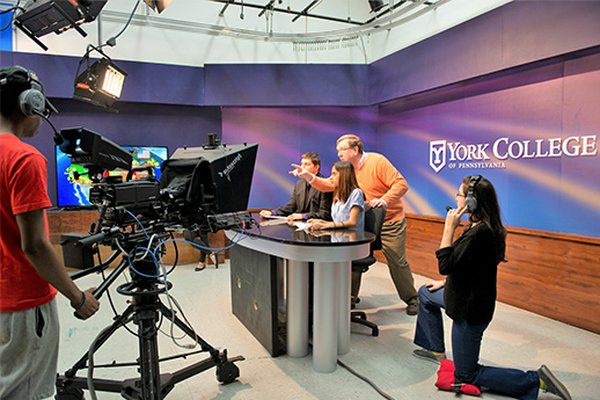 Mass Communication Students in YCP Video Studio