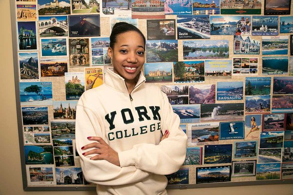 Postcards from around the world near the International Relations program at York College