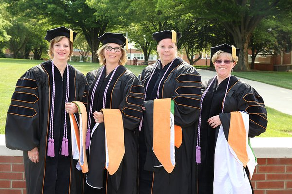 Doctor of Nursing Practice students on graduation day 2015 at York College of Pennsylvania