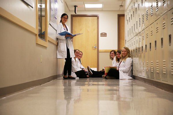 Nursing Students Studying in Diehl Hall