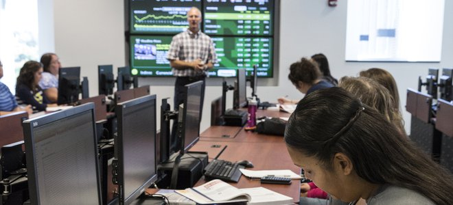 The NASDAQ Trading Lab at York College of Pennsylvania, a unique learning classroom for finance majors