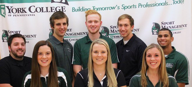 Sport Management Student Association e-board for 2016 at York College